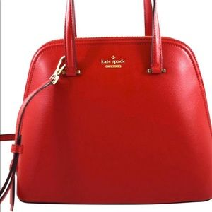 NWT Kate Spade Patterson Drive medium dome bag red